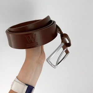 Accessories - men's leather wofford belt